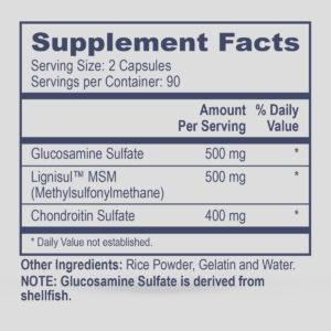 Glucosamine Sulfate, Chondroitin Sulfate, MSM