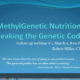 MethylGenetic Nutrition Webinars