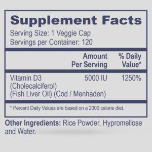 Vitamin D3 5,000 IU